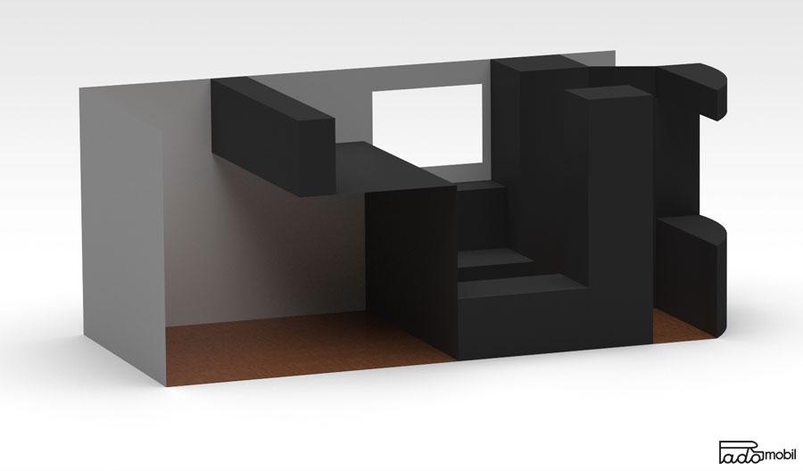 PadoMobil TransportCaravan 3D Entwurf Seitenansicht