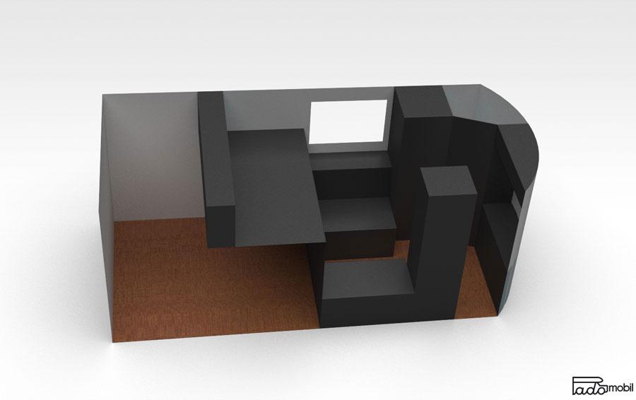PadoMobil TransportCaravan 3D Entwurf